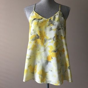 H&M yellow floral top
